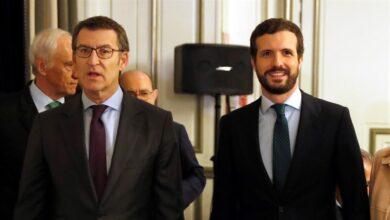 """Feijóo, a la gresca en Madrid con Arrimadas, Abascal y el """"Gobierno moroso"""" de Sánchez"""