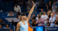 Sharapova, en el torneo de Cincinnati de 2019