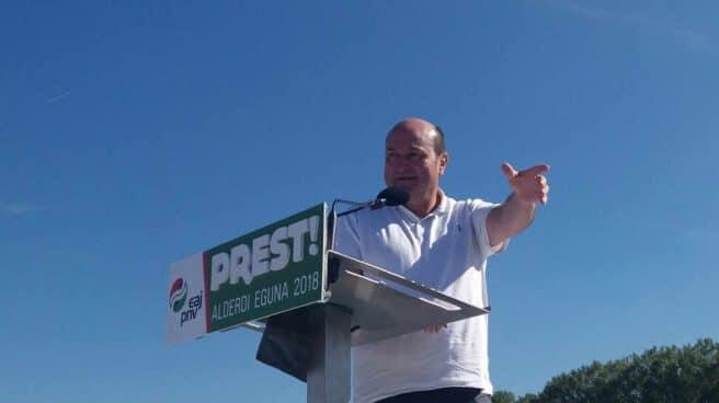 El presidente del PNV, Andoni Ortuzar, durante un Alderdi Eguna o 'día del partido'.