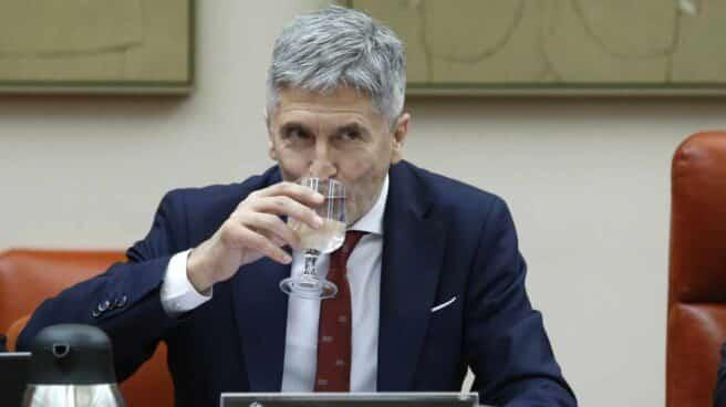 El ministro del Interior, Fernando Grande-Marlaska, durante su comparecencia en el Congreso este lunes.