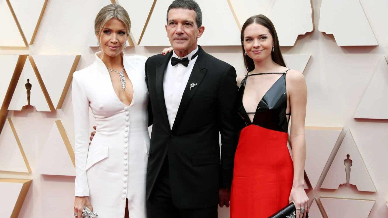 Nicole Kimpel, Antonio Banderas y Stella Banderas OSCAR
