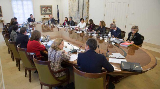 Pedro Sánchez, presidiendo una reunión del Consejo de Ministros durante la pasada legislatura.