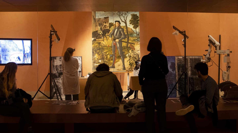 La restauración del cuadro de Carpaccio se está realizando en la sala 11 del Thyssen