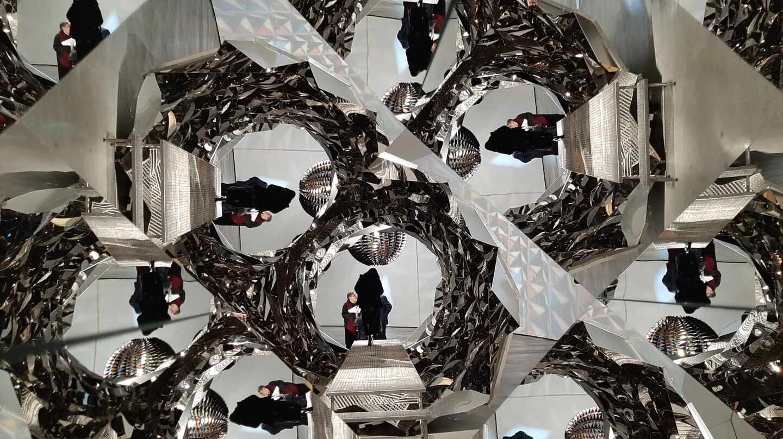 Una de las obras de Olafur Eliasson expuestas en el Museo Guggenheim Bilbao.