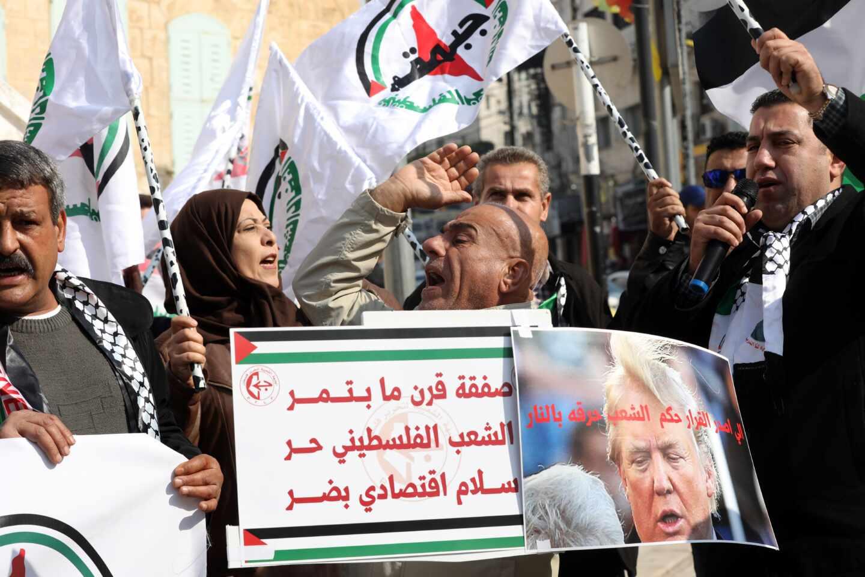 Palestinos plan de paz Trump