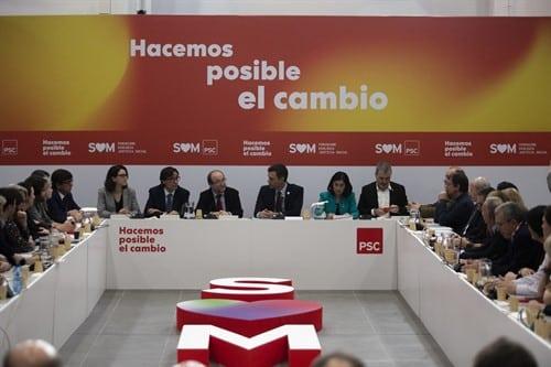 Sánchez fija el rumbo de la campaña electoral del PSC con sus 44 puntos