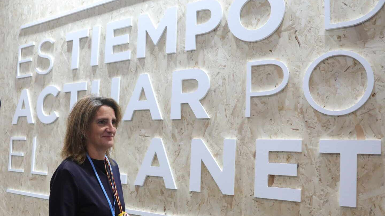 La ministra para la Transición Ecológica, Teresa Ribera, en la reciente cumbre del clima de Madrid.