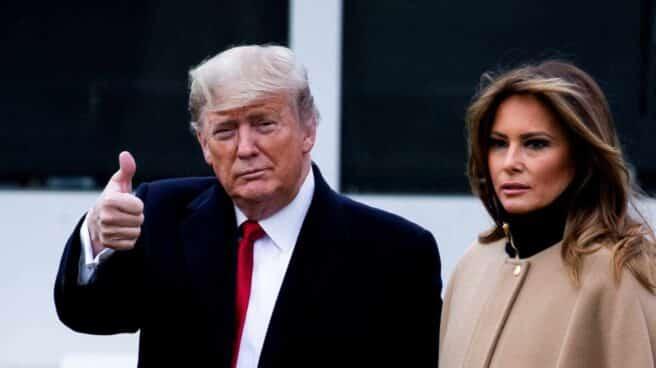 Donald Trump con su esposa Melania