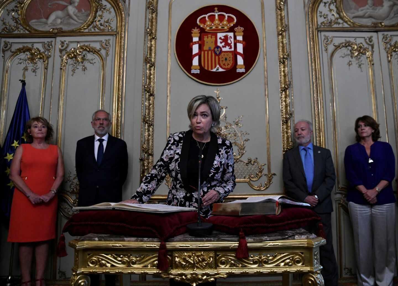 Consuelo Castro, abogada general del Estado, en su toma de posesión.