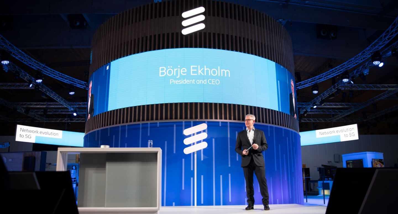 El presidente de Ericsson, Borje Ekholm, en el MWC de Barcelona de 2019.