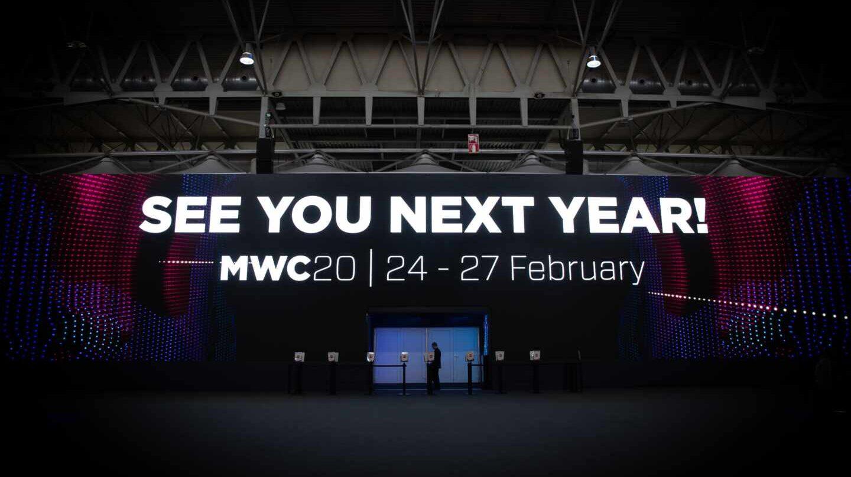 Cartel anunciando la edición del MWC de 2020.