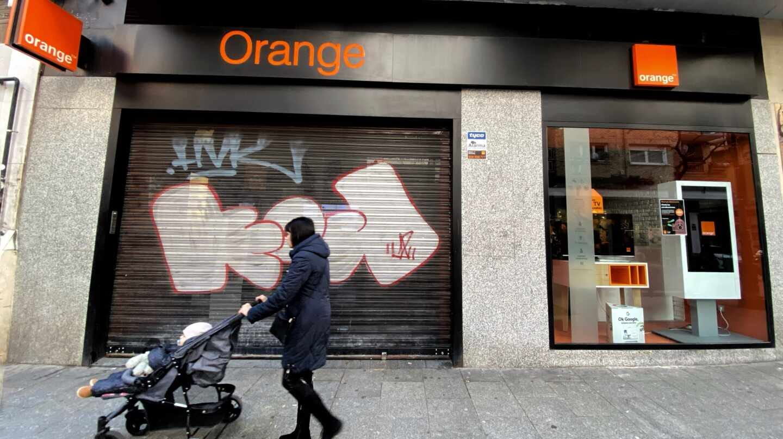 Una tienda del grupo Orange.