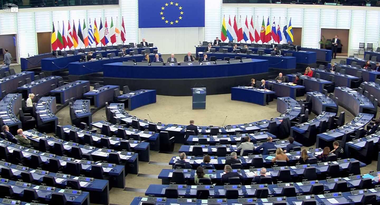 Sala de plenos del Parlamento Europeo.