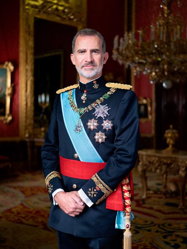 Rey Felipe retrato 2020 de gala