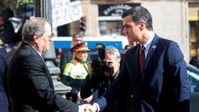 Alivio en Moncloa tras cumplir la exigencia de ERC de la reunión Sánchez-Torra