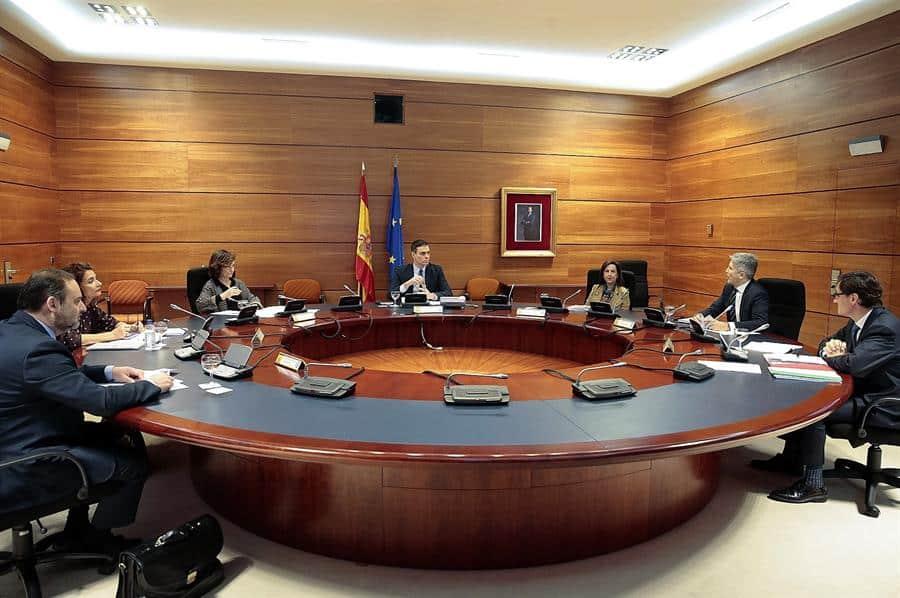 Imagen de una de las últimas reuniones del Consejo de Ministros.