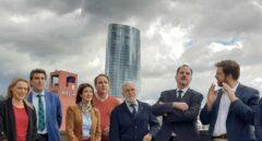 Carlos Iturgaiz y Luis Gordillo junto a algunos de los candidatos de la coalición PP+Cs.