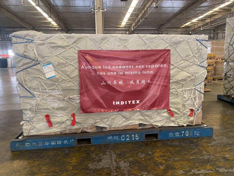 La donación de Inditex a la sanidad pública por el coronavirus, lista para su envío desde China