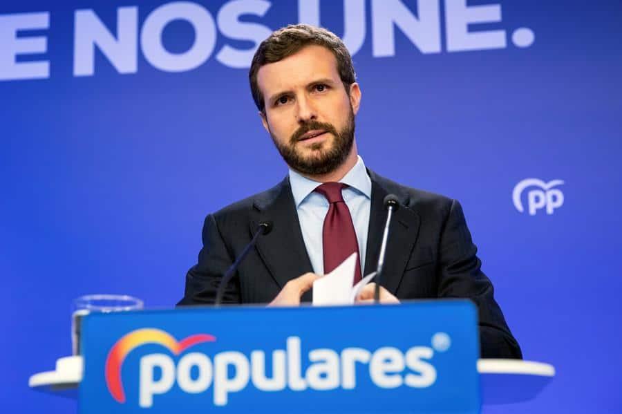 """Casado tiende la mano a Sánchez pero critica la """"división"""" del Gobierno: """"No ha estado a la altura"""""""