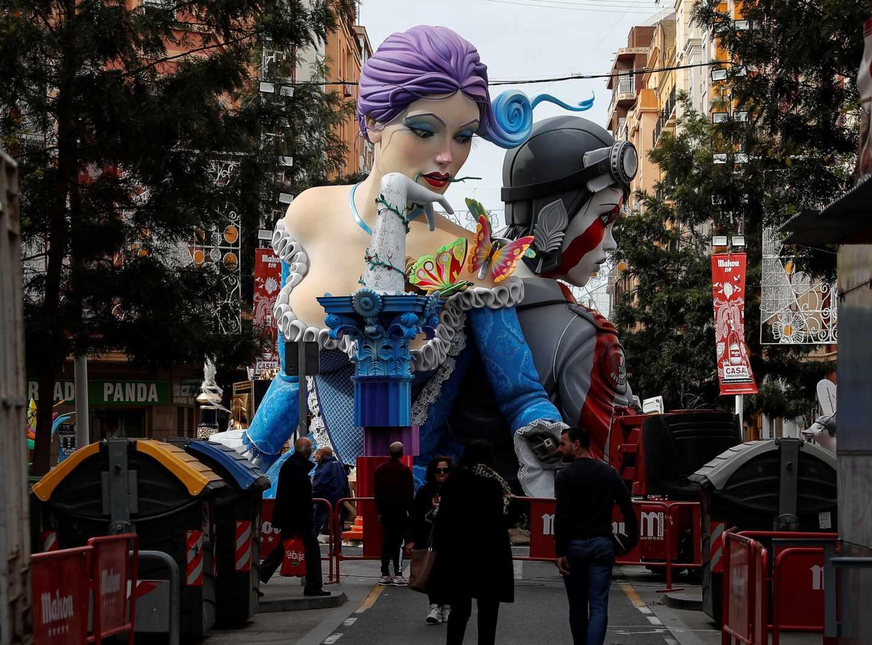 Imagen de las Fallas de Valencia.