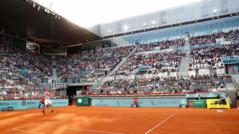 Imagen de la Caja Mágica durante la final masculina de 2019 entre Djokovic y Tsitsipas