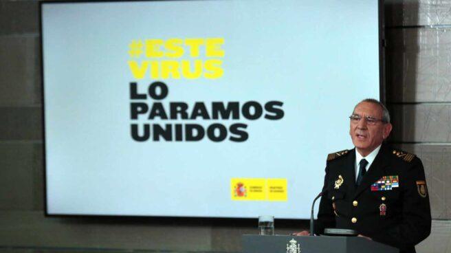 El comisario principal José Ángel González, DAO de la Policía Nacional, en una comparecencia del comité técnico de gestión de la crisis.