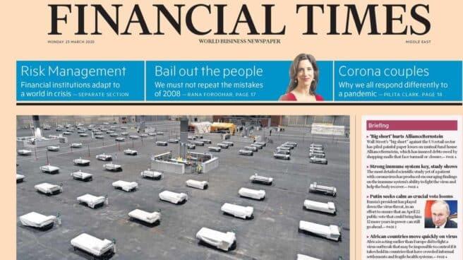 Portada de la edición del Financial Times de este lunes: España clama por un nuevo Plan Marshall.