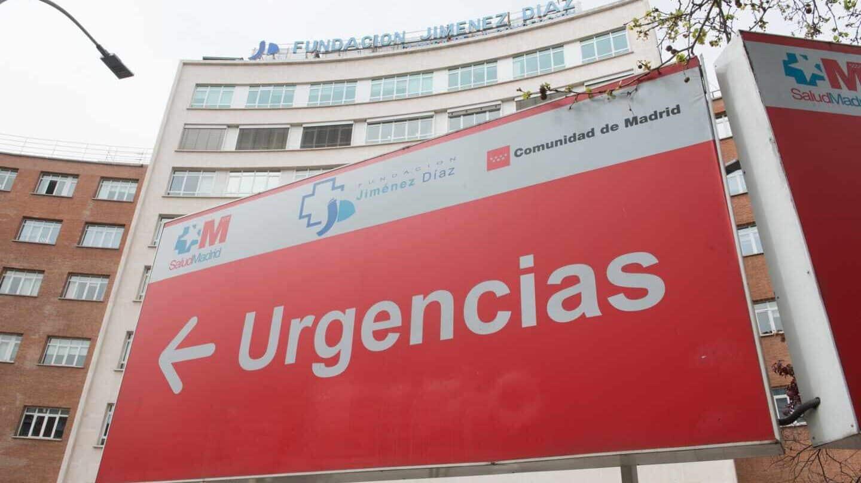 Fachada del centro hospitalario Fundación Jiménez Díaz, en Madrid.