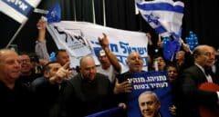 Seguidores de Netanyahu celebran victoria