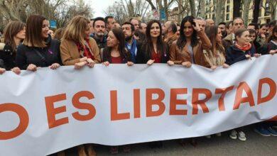 Ciudadanos abandona la manifestación del 8M de Madrid entre gritos e insultos