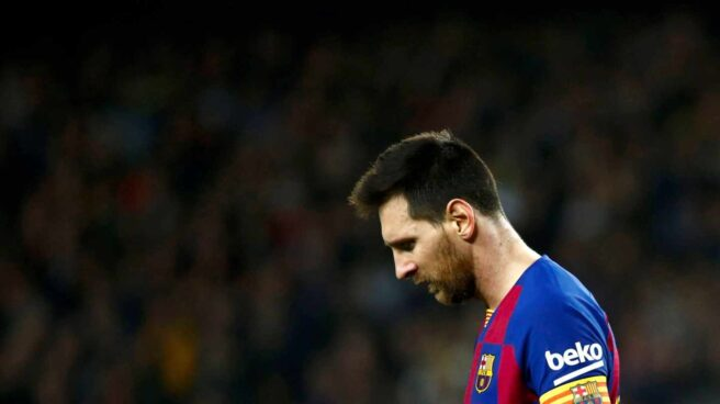 Lionel Messi, durante el último clásico disputado en el Camp Nou