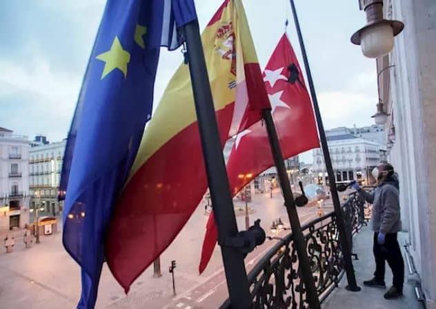 Madrid comienza su luto en memoria de las víctimas del coronavirus
