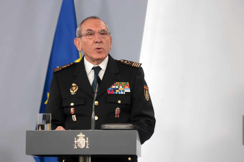 El DAO de la Policía Nacional, José Angel González, en una comparecencia informativa en La Moncloa.