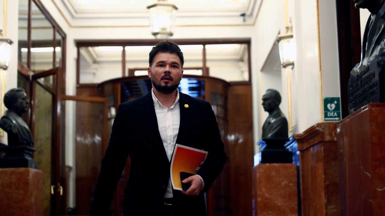 """Rufián revindica el pacto con el PSOE frente a JxCat y avisa: """"Cs es Vox en la Fase 1"""""""