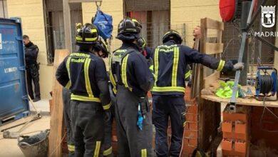 Muere en Madrid un obrero sepultado por un derrumbe cuando trabajaba