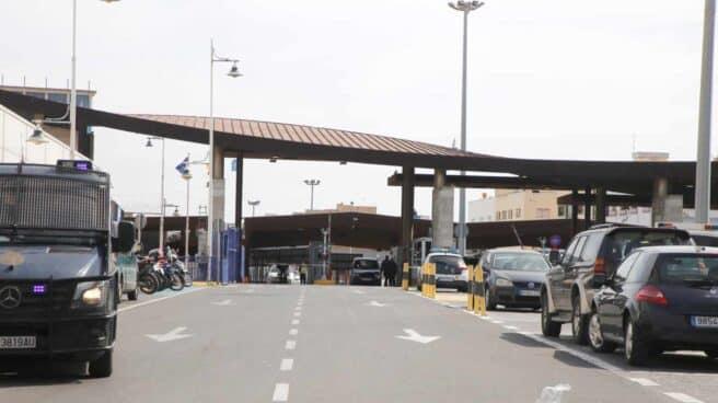 Frontera entre España y Marruecos en Melilla.