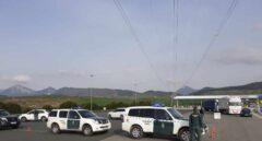 Control de la Guardia Civil tras decretarse el estado de alarma.