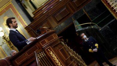 """Casado advierte a Sánchez: """"No puede aspirar a reescribir la Transición quien no es capaz de negociar un decreto"""""""