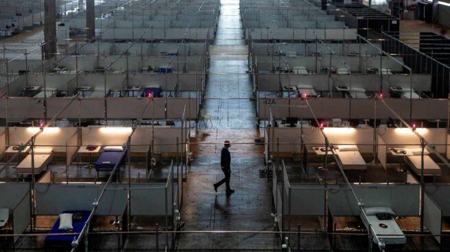 El hospital de campaña de Fira de Barcelona está listo para acoger pacientes