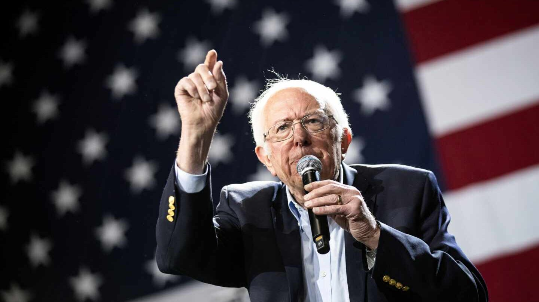 El senador Bernie Sanders durante uno de sus actos de campaña.