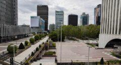 La zona financiera de Azca está vacía durante el confinamiento
