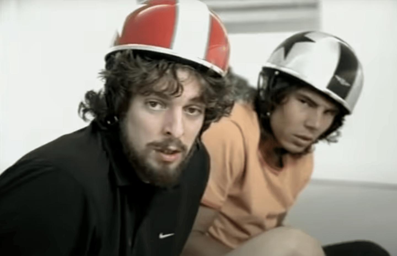 Nadal y Gasol en un anuncio de relojes que grabaron en 2006