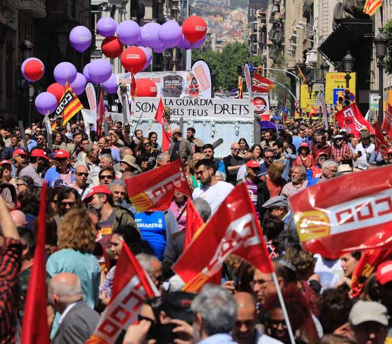 El TC y los tribunales de Aragón y Navarra se contradicen sobre manifestarse el 1 de mayo