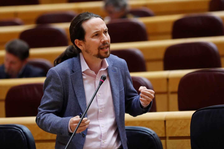El vicepresidente Pablo Iglesias, en una comparecencia en el Senado.