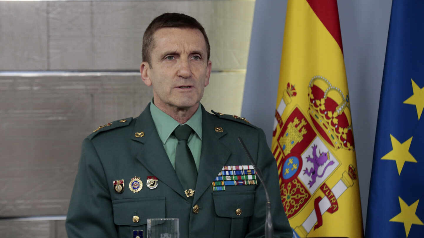 El Jefe del Estado Mayor de la Guardia Civil, general José Manuel Santiago.