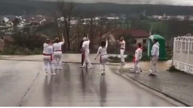 Denunciadas ocho personas en Soria por simular un encierro de San Fermín