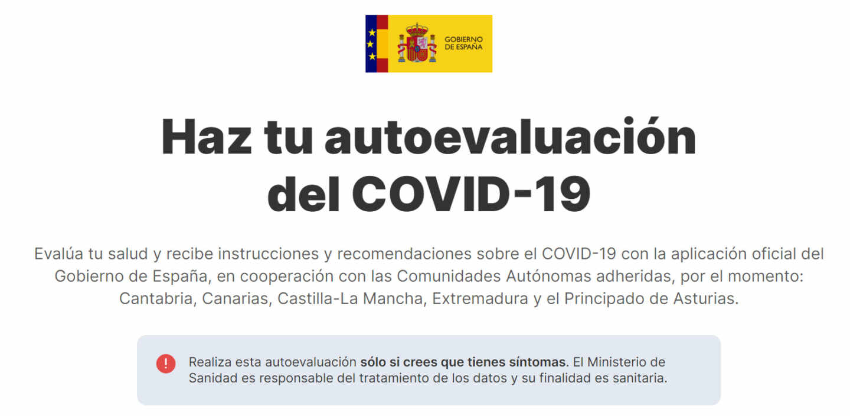 Imagen de la app del Gobierno AsistenciaCovid19.