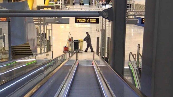 El aeropuerto de Barajas sin pasajeros por el estado de alarma.
