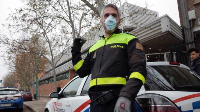Un agente de la Policía Local de Zaragoza.