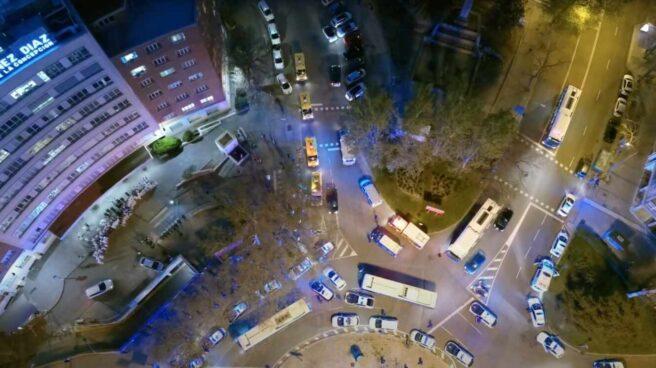 Imagen tomada por un dron de la Policía Municipal de Madrid.